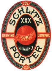 schlitz-porter-label