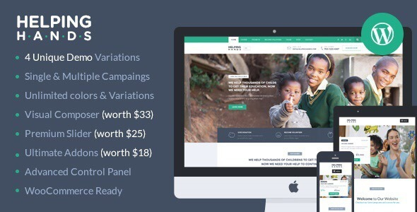 HelpingHands v1.3.7.1 - Charity/Fundraising WordPress Theme