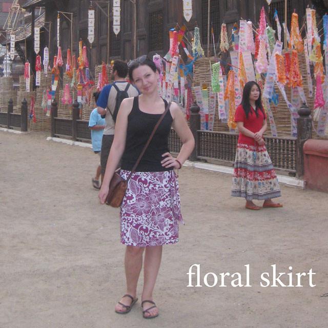 02 - floral skirt