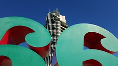 Robert Indiana's 66 and Frank Lloyd Wright's Price Tower