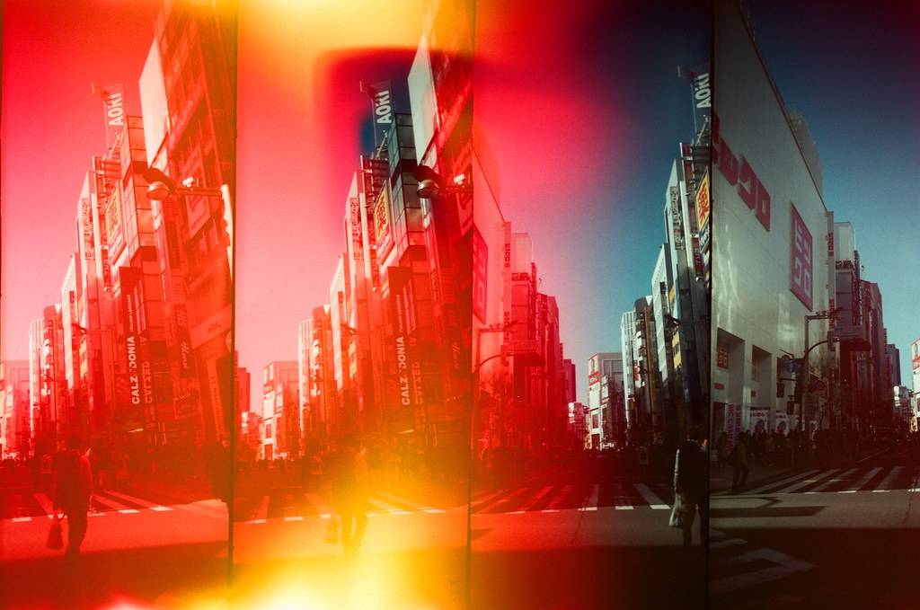 新宿 Shinjuku, Japan / AGFA VISTAPlus / SuperSampler Dalek 因為手殘,不小心打開了底片匣,讓一小段部分曝了光,但意外的特別!  SuperSampler Dalek AGFA VISTAPlus ISO400 8278-0009 2016/02/07 Photo by Toomore