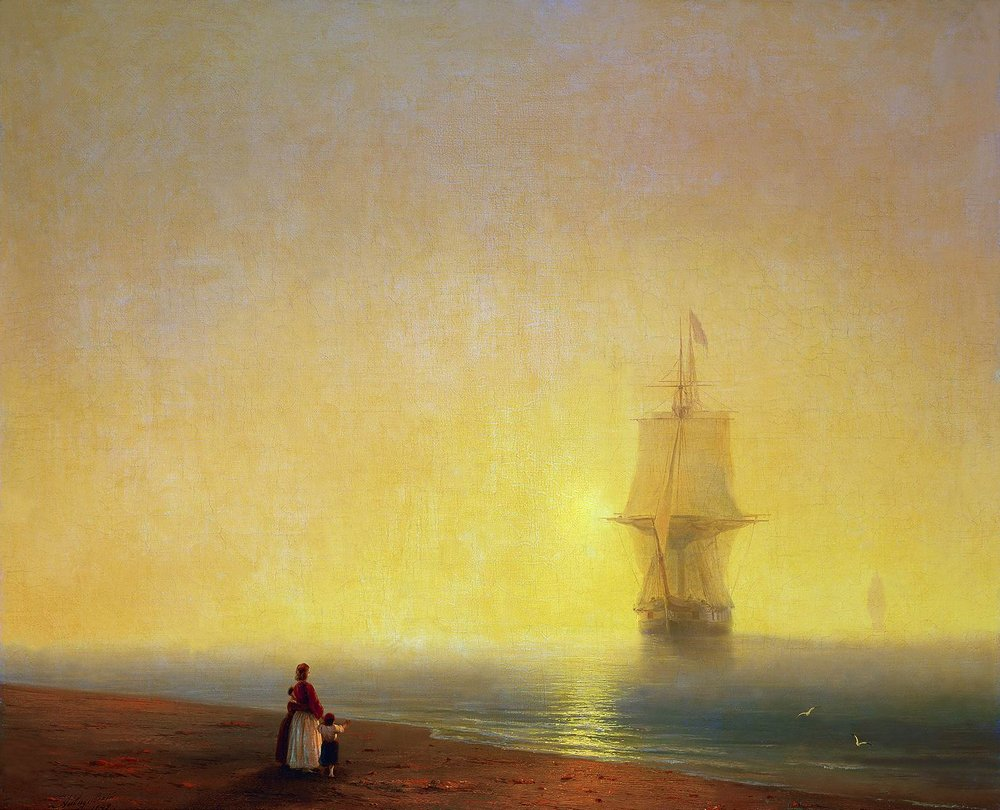Morning at Sea by Ivan Aivazovsky, 1849