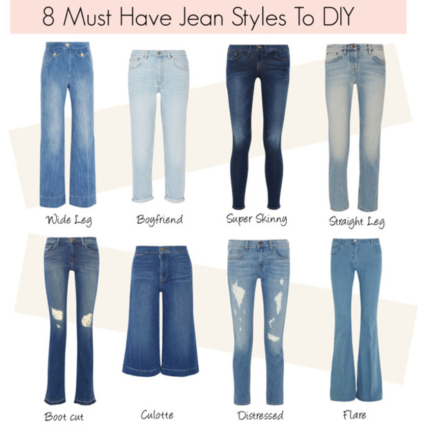 Types Of Different Jean Cuts Pictures to Pin on Pinterest ...