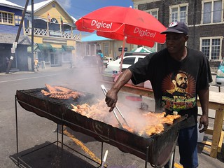 Barbecue vendors in St Kitts