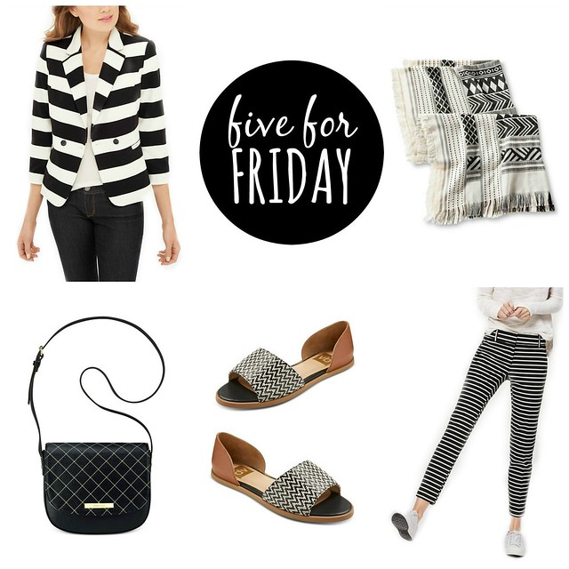five for friday: black and white | Style On Target