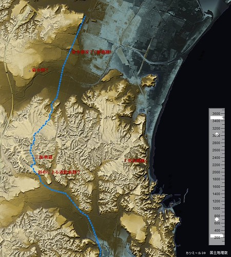 勿来関周辺の古代東海道ルート