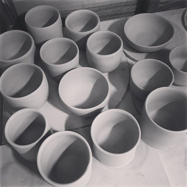 Lots of pots, still turning these...