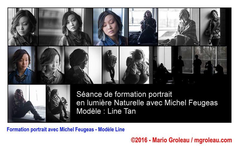 Formation portrait avec Michel Feugeas - Modèle Line