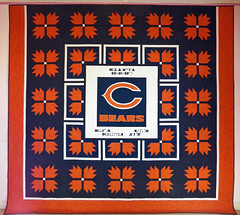 Family of Bears Fans Custom Quilt by Whimzie Quiltz