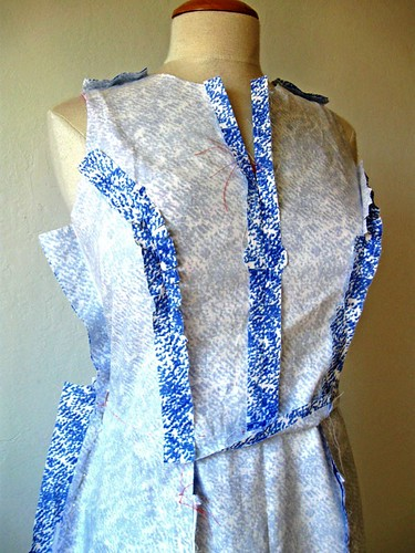 inside seams blue white dress