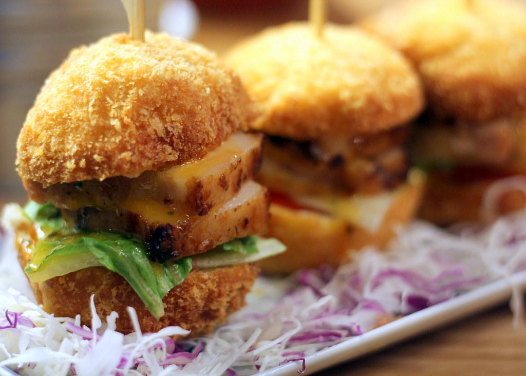 Tanuki Raw: Mini Salted Duck Egg Char Siew Sliders