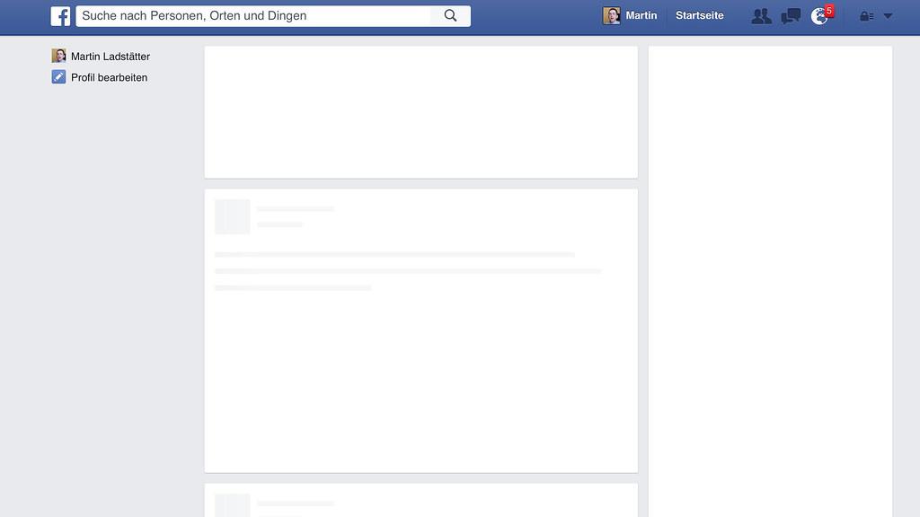 Wenn Facebook leer ist