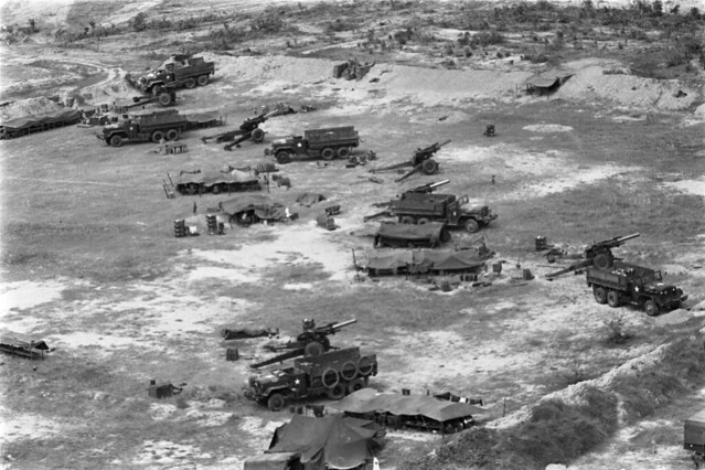 Hậu Nghĩa 1966 - Operation Crimp. Aerial view of U.S. camp.