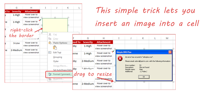 The Trick to Inserting an Image in a Specific Cell without the Need for Macro (Excel 2013)