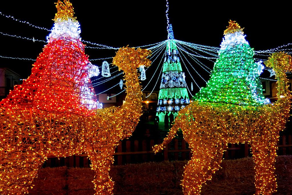 Iluminación navideña en la plaza de Valdemoro