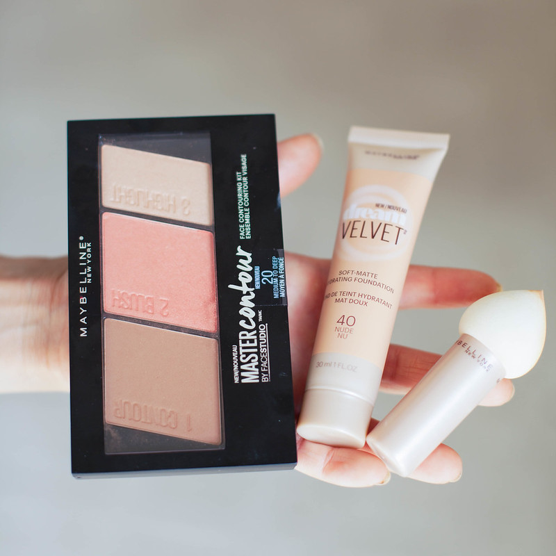 cute & little | petite fashion blog | maybelline dream velvet foundation, maybelline master contour palette | beauty tutorial