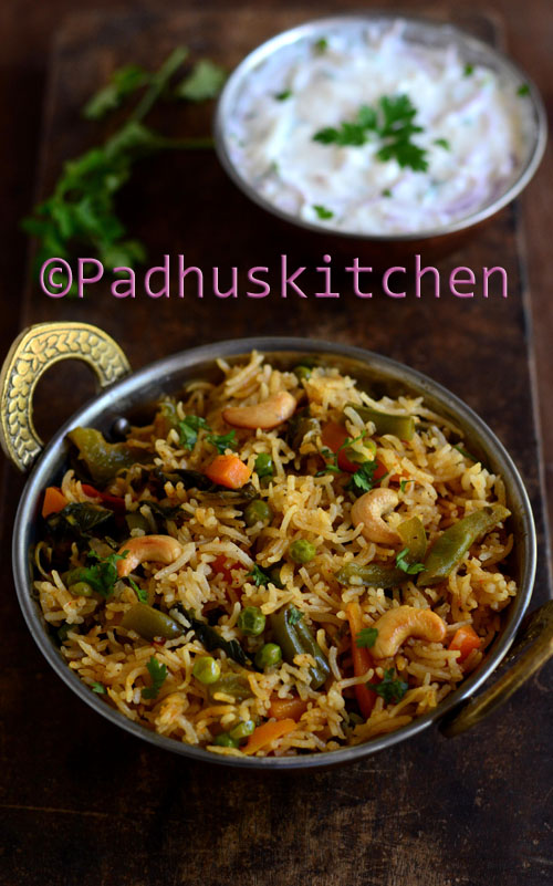 Easy Veg Biryani in Pressure cooker