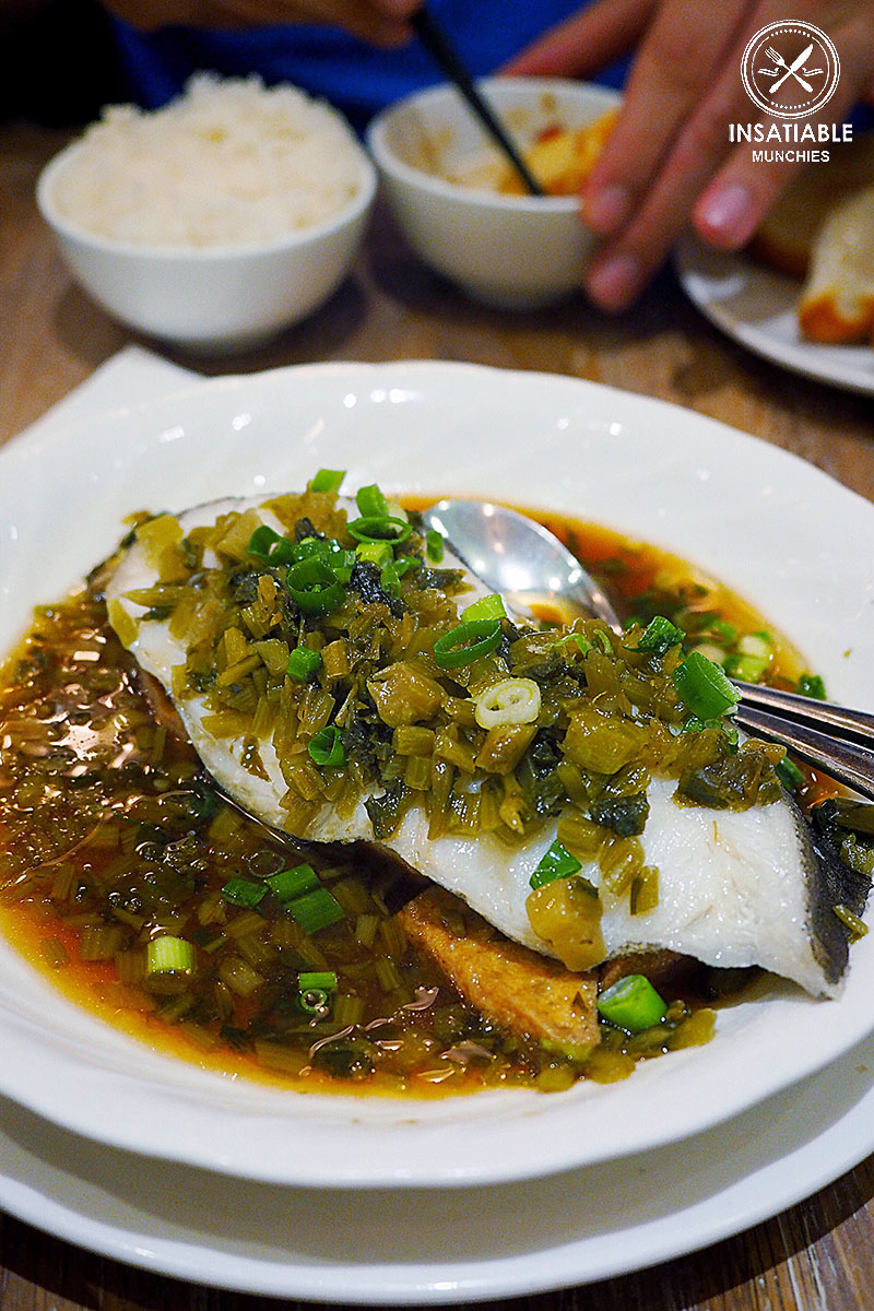 Steamed Cod Fish with Preserved Vegetables, $18.80: 257 Home Kitchen, Eastwood. Sydney Food Blog Review