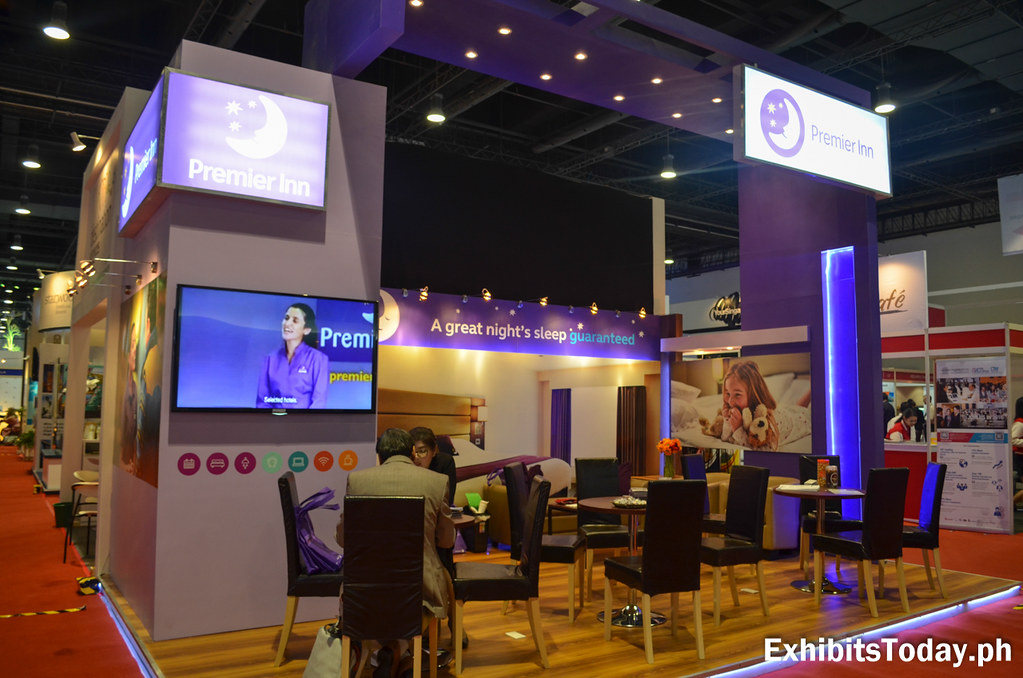 Premier Inn Hotel Exhibit Booth