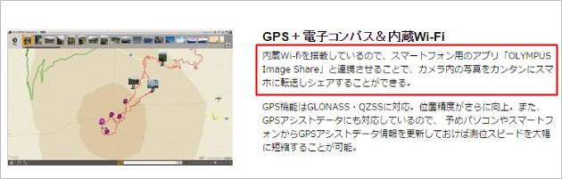 オリンパスデジカメTG4Wi-Fi説明