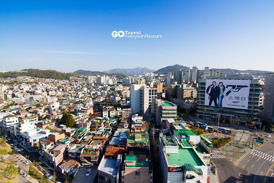 Room+Plus Hostel Korea day view