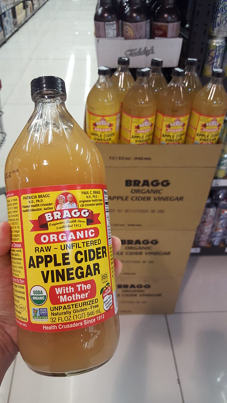 Bragg raw unfiltered unpasteurized organic apple cider vinegar 32 oz / 946 ml P400+ at Gaisano Mall Davao Supermarket