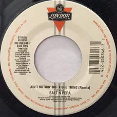 SALT-N-PEPA:AIN'T NUTHIN' BUT A SHE THING(LABEL SIDE-B)