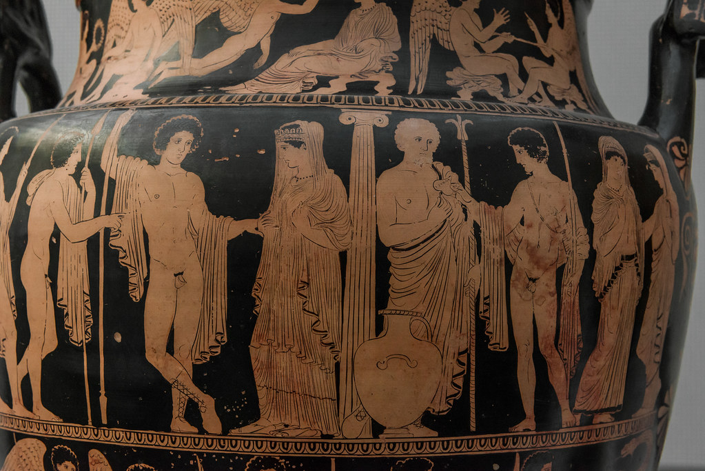 mourners on greek vases remarks on the Greek art at least as early as the , when were decorated with scenes portraying the deceased surrounded by mourners following the prothesis, the deceased was brought to the cemetery in a.