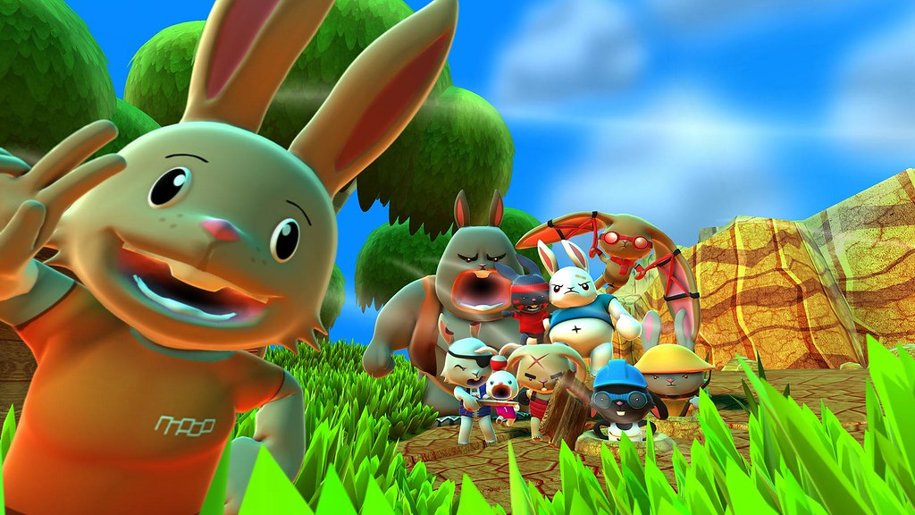 Blast 'Em Bunnies on PS4, PS Vita