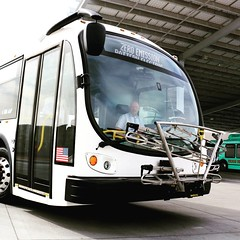 Test driving a new @Proterra_Inc #ZeroEmission #ElectricBus. #Transit #HighDesert #Hesperia #Victorville #Barstow #AppleValley