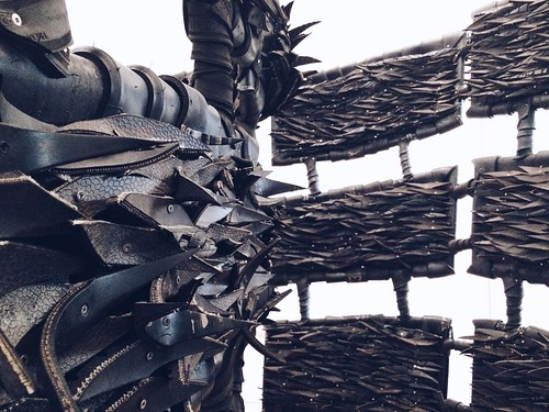 made up of tires