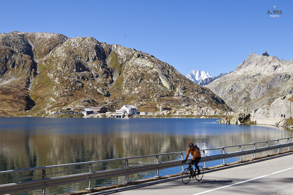 Cyclist by the Totensee