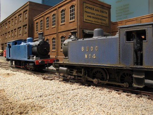 TWo blue locos