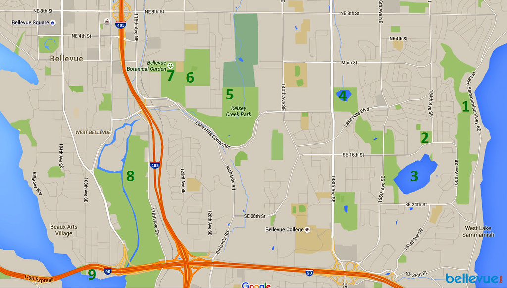 An Urban, Suburban Trek Map | Bellevue.com