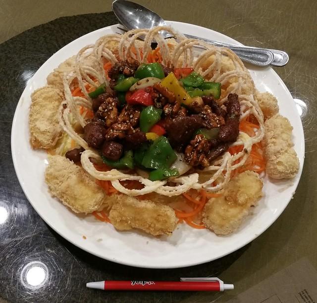 2016-Feb-24 Fortune House - XO sauce stir-fried beef with deep fried milk