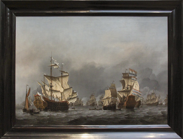 The Taking of the English Flagship the Royal Prince (detail) by Willem van de, the Younger Velde