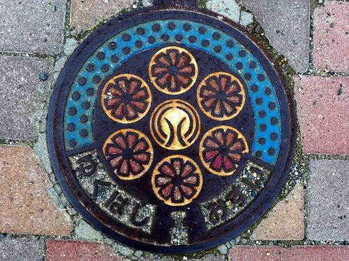 Yukuhashi Fukuoka, manhole cover 2 (福岡県行橋市のマンホール2)