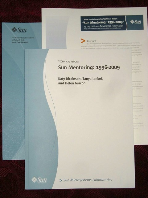Sun Mentoring: 1996-2009 Sun Labs Technical Report