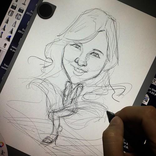 Janice Marilyn Monroe digital caricature for PropertyGuru