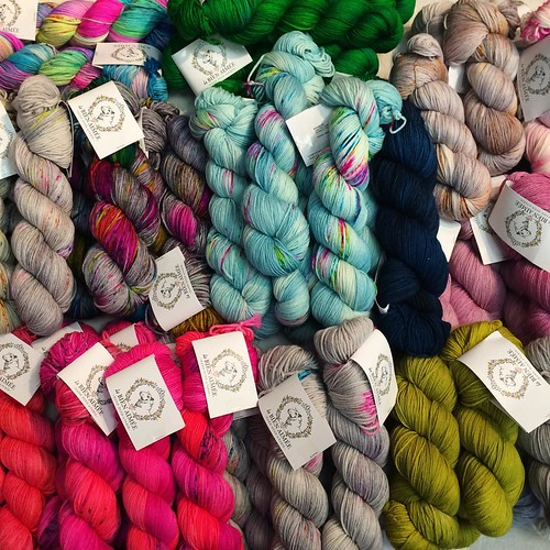 A little eye candy and woolly goodness at the @labienaimee stall at @edinyarnfest #edinburghyarnfestival #eyf2016 #edinyarnfest #yarn #parlezvoustricot