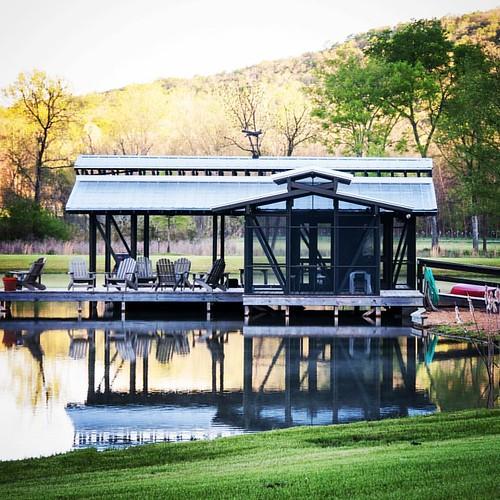 Beautiful day at Sugar Creek #WilliamsPartnership #PhotoShoot #Farmhouse #Lakehouse #Boathouse #Residential #Design