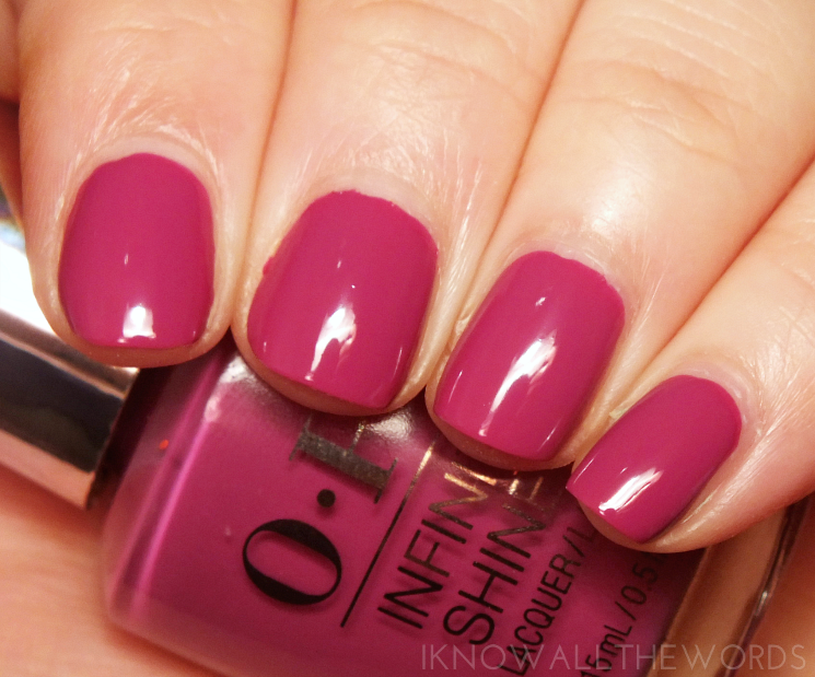 OPI Infinite Shine Don't provoke the Plum!