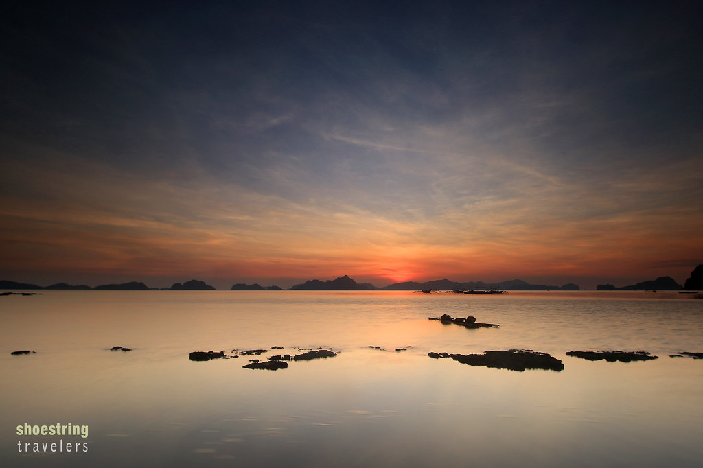 sunset at Bacuit Bay, El Nido