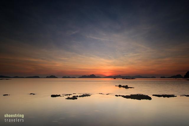 sunset at Bacuit Bay, El Nido
