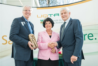 Remise de Prix du partenariat UQTR au groupe Soucy