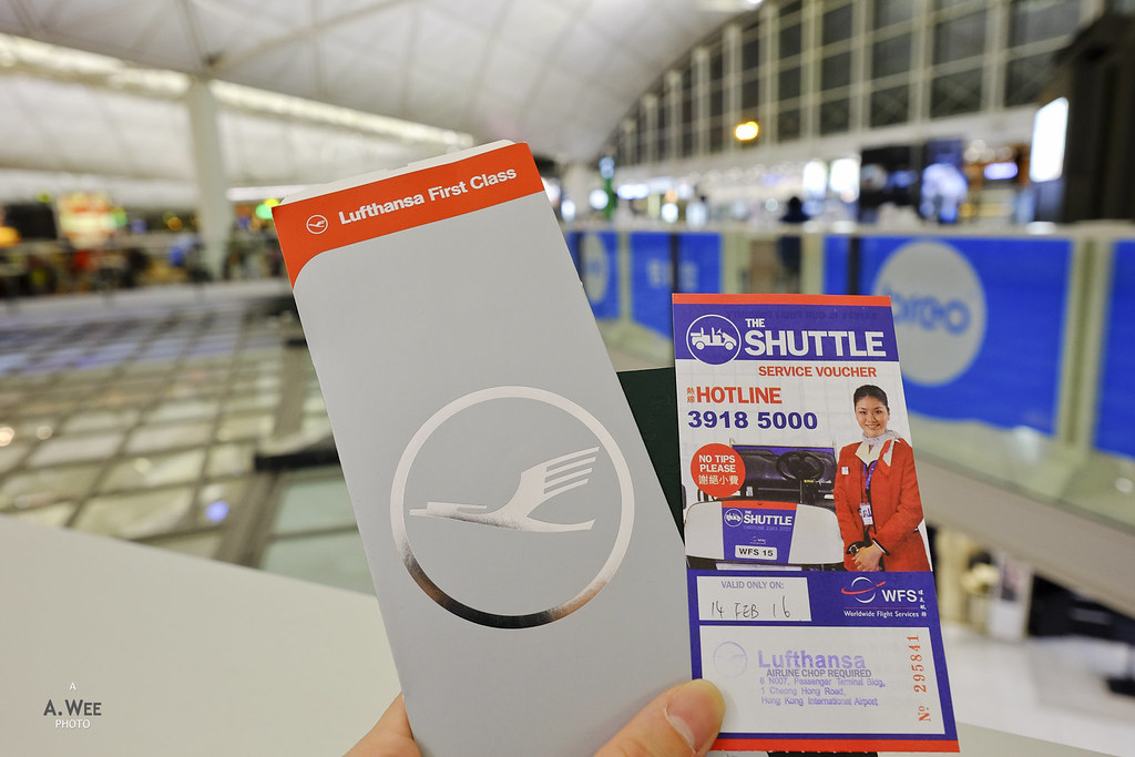 Boarding pass and shuttle voucher
