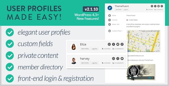 User Profiles Made Easy v2.1.15 - WordPress Plugin
