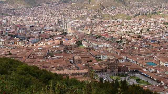 Cuzco city, vue depuis Saqsaywaman