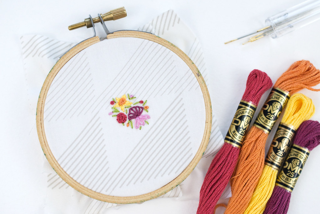 Stitching Tiny Flowers
