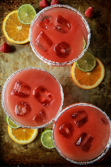 Oramge Raspberry Margaritas from HeatherChristo.com